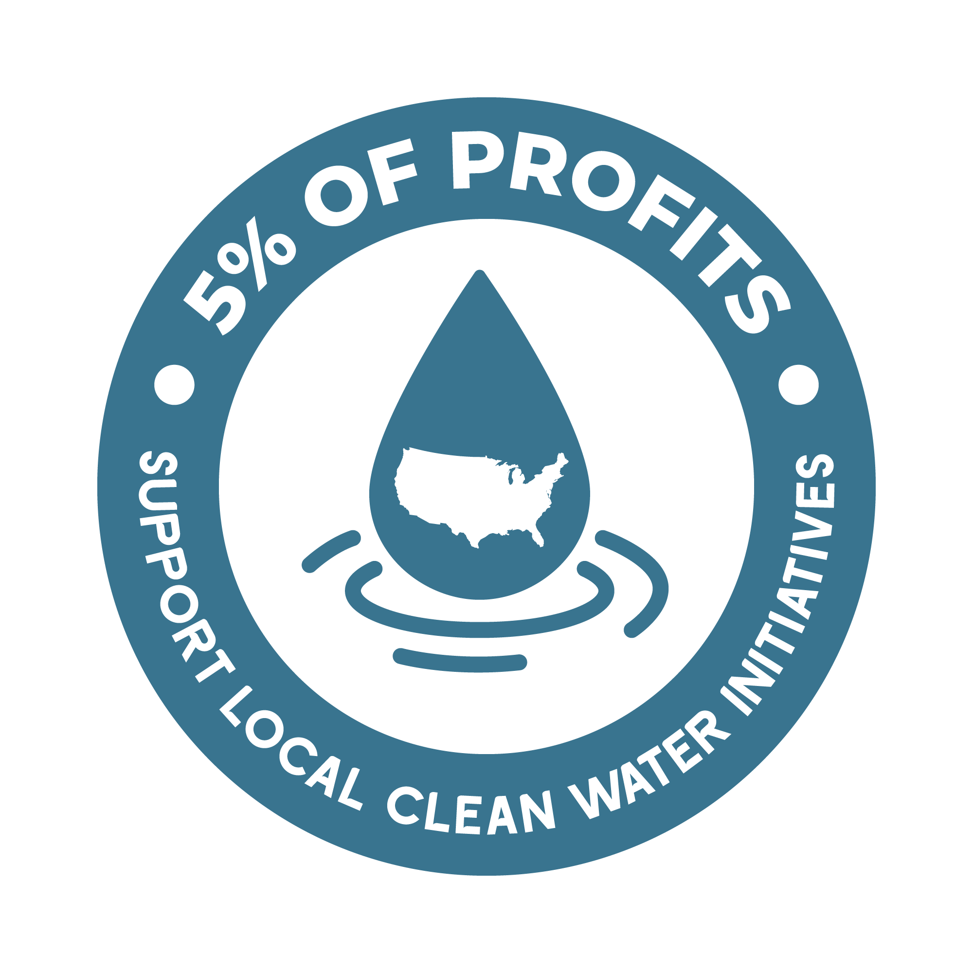 5% of Profits Support Local Clean Water Initiatives